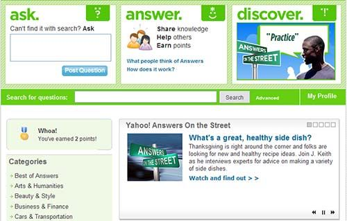 Yahoo Answers - Biggest Q&A Community on The Web