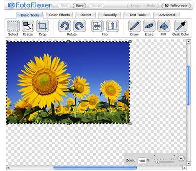 FotoFlexer: Online Photoshop Replacement