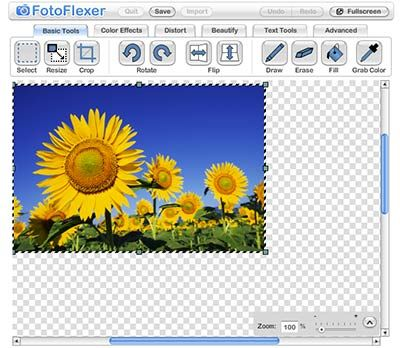 web-based image editing tool