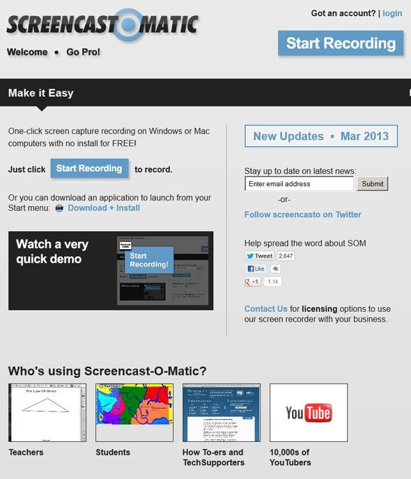 screencastomatic   Screencast O Matic: Online Screencast Software