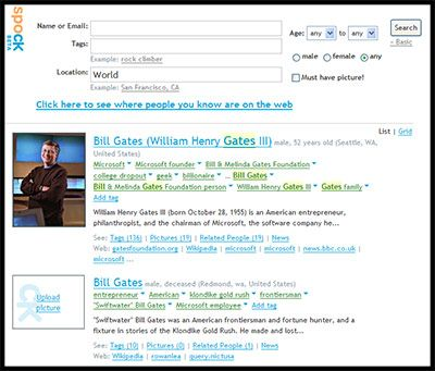 Spock - People Search Engine