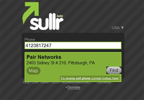 Sullr - Reverse Phone Lookup