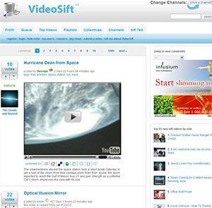 VideoSift- User recommended and voted videos
