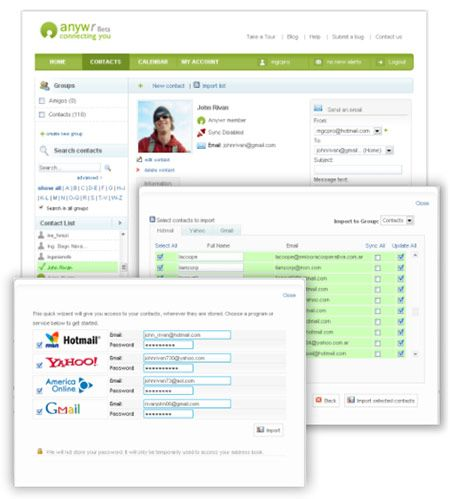 Anywr - Online Contact Manager & Calendar.
