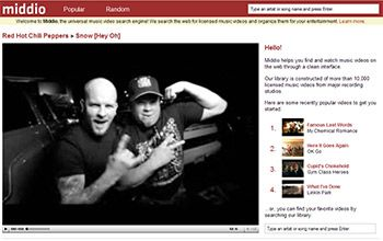 Middio - Music Video Search Engine