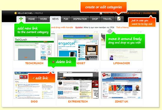 Only2Clicks - Visual Bookmarking