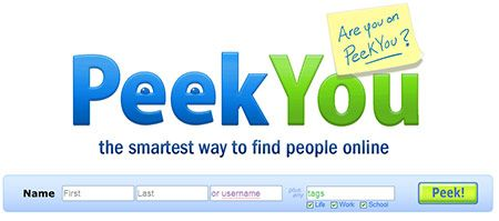 peekyou   PeekYou : People Search Engine