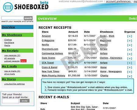 ShoeBoxed - Organize your Receipts Online