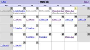 Toodledo - Calendar View