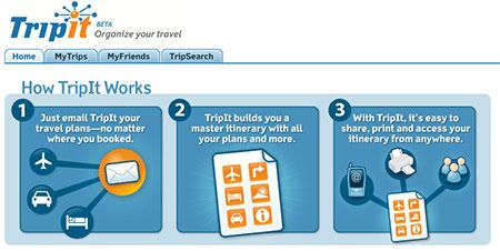 tripit travel itinerary planner and organizer