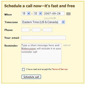 Wakerupper - Schedule Telephone Reminder Calls