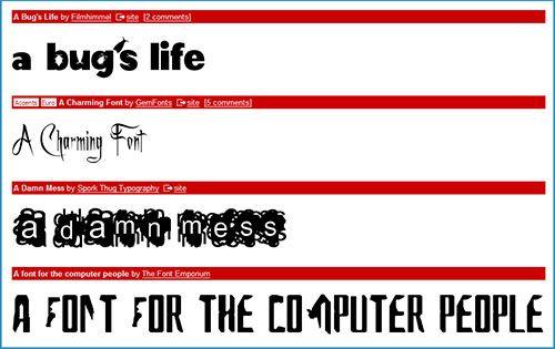 dafont font directory   Dafont: Free Text Fonts