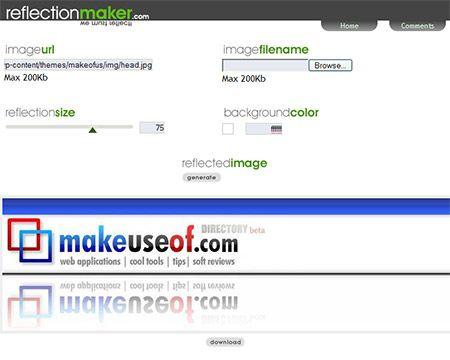 ReflectionMaker : Web-based Image Reflection Generator