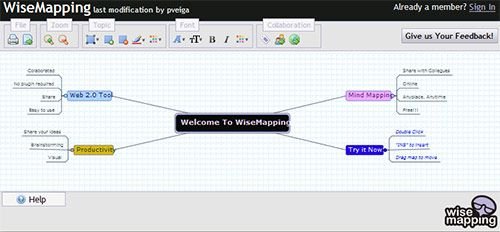 WiseMapping - Create and Share Mindmaps