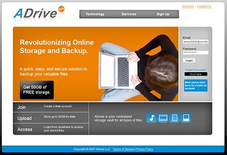 ADrive: Free Online Storage and Sharing