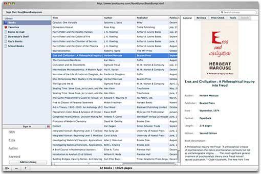 BookBump - Catalog Your Books Online