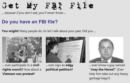 Get a copy of your FBI file