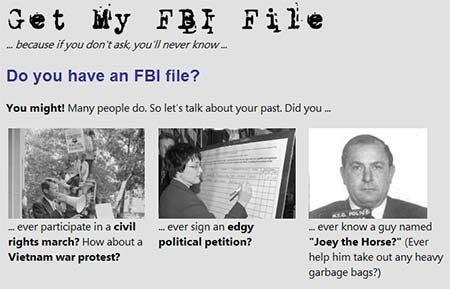 Get a copy of your FBI file