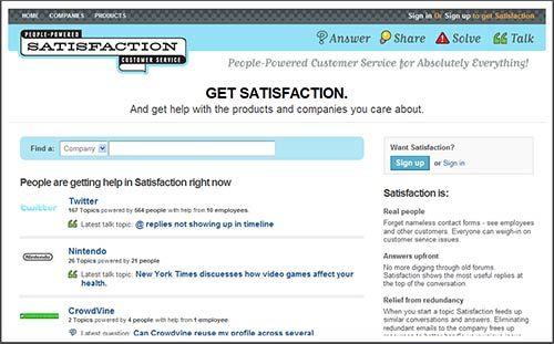 GetSatisfaction - Online Tech Support