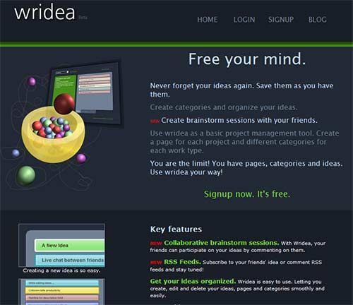 Wridea - Keep Track of Ideas