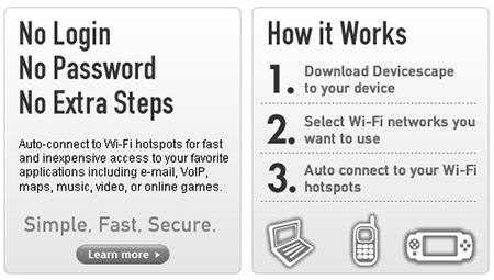 DeviceScape: Connect All WiFi Devices to Any WiFi Hotspot