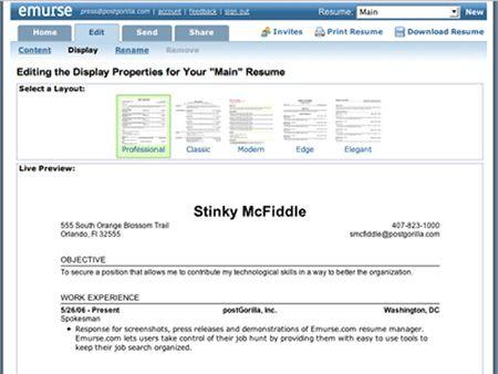 emurse online resume maker