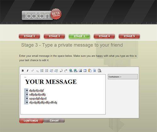 LockBin - Encrypted Email Service