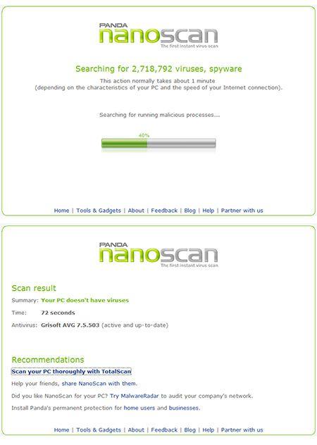 nano scan virus   NanoScan : The Fastest Online Virus Scan