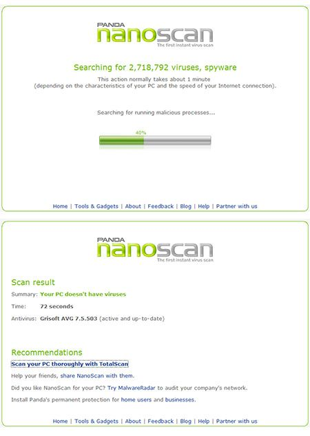 nano scan virus   NanoScan : The Fastest Online Virus Scan