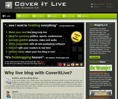 CoverItLive - Live Blogging