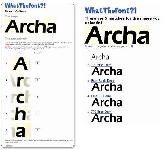 Recognize the Font from any Image