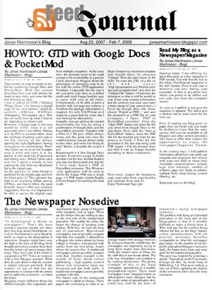 FeedJournal - Turn RSS Feeds to an Elegant Newspaper