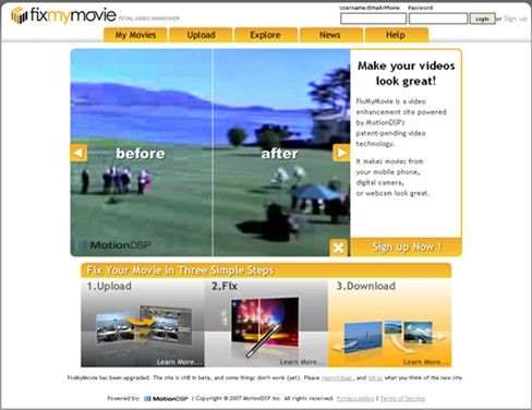 fixmymovie   FixMyMovie : Improve Quality of Low Resolution Videos