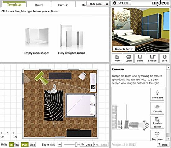 cool designs for your room. Mydeco is a web-based room planner that lets you recreate your room and
