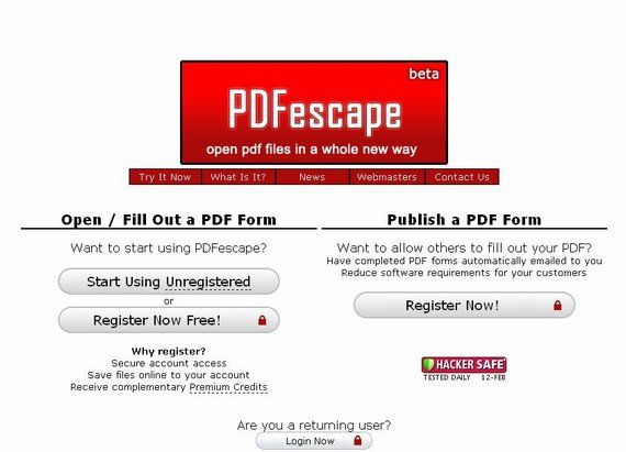 PDFEscape - Online PDF form filler and editor