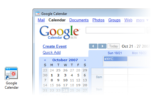 Prism - Google Calendar in action