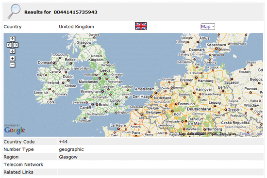 Tp2Location - Get Geographical Location from the Phone Number