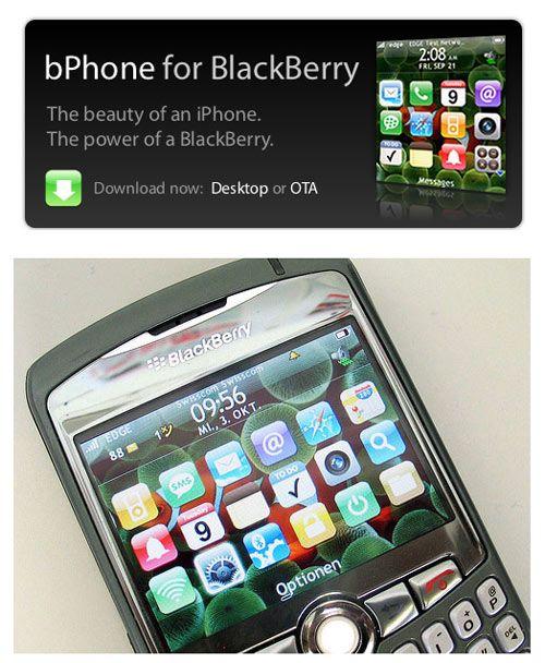 bPhone - iPhone Theme for Blackberry