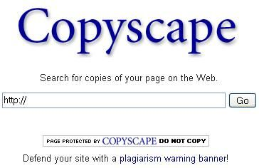 Copyscape - Find People Stealing your blog osts