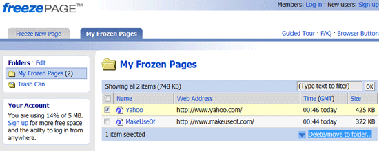 FreezePage : Somebody Stealing you Work? Capture it!