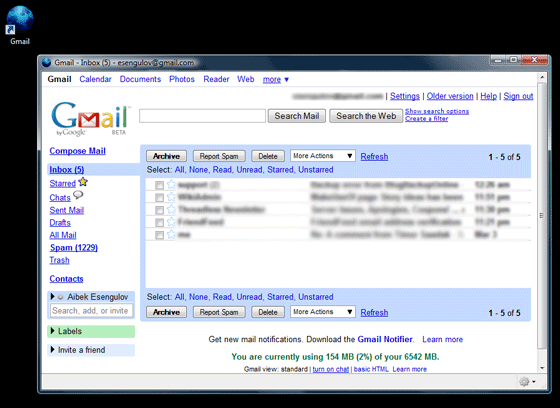Prism - Run Gmail in Prism