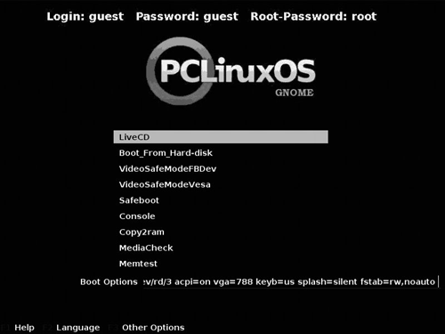 PClinuxOS-boot-menu