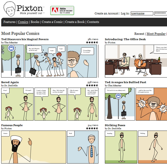Pixton - Create and Share Comic Strips