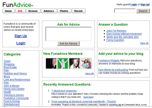 FunAdvice - Ask Questions