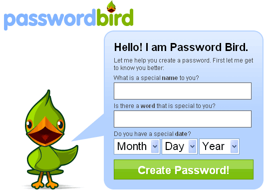 PasswordBird - Create Strong Passwords