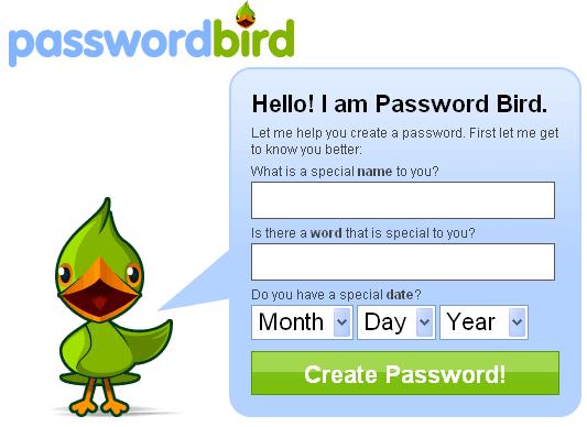 PasswordBird - Create Strong Passwords
