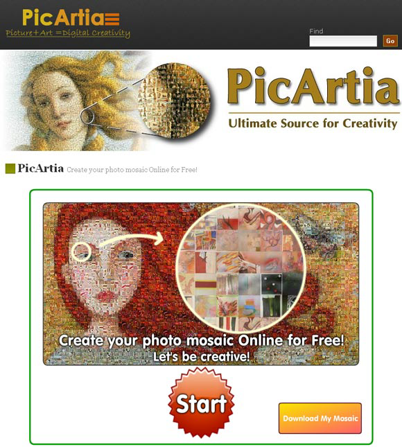 picarta4   PicArtia: Create your Own Photo Mosaic Online
