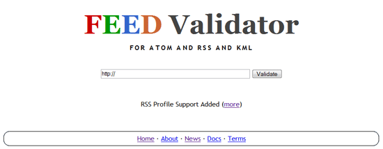 FeedValidator -  Validate RSS and Atom Feeds