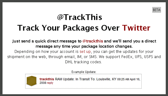 TrackThis - Track your Shipping Packages using Twitter