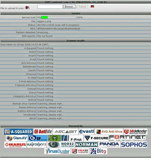 virusscan   Virus Scan : Check Files for Viruses Online